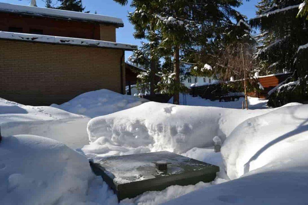 Эксплуатация септика в зимний период